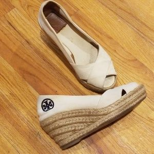Tory Burch Cream Wedge size 5